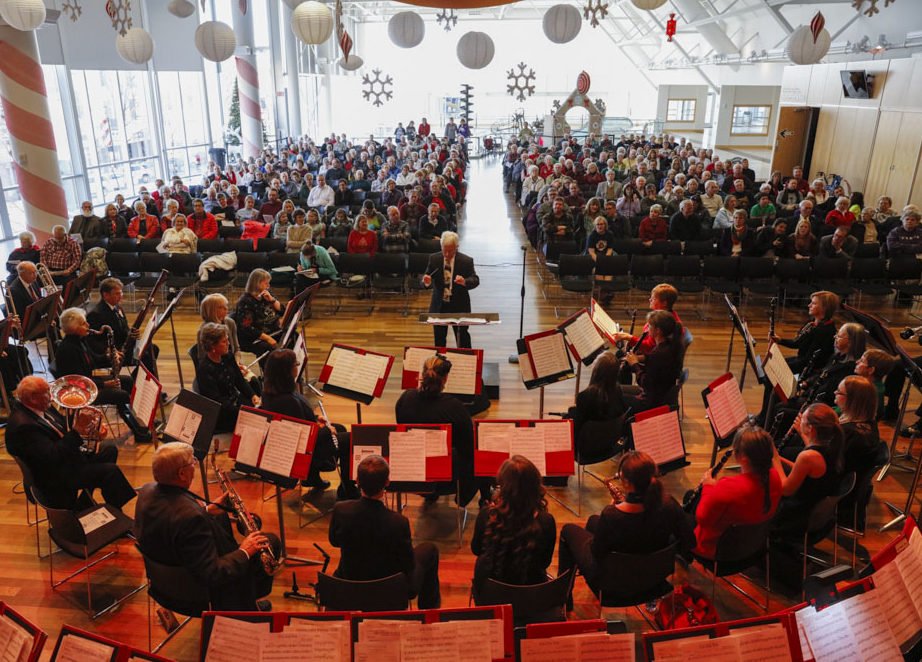 The Columbus City Band performs at the Commons. Photo by AJ Mast.